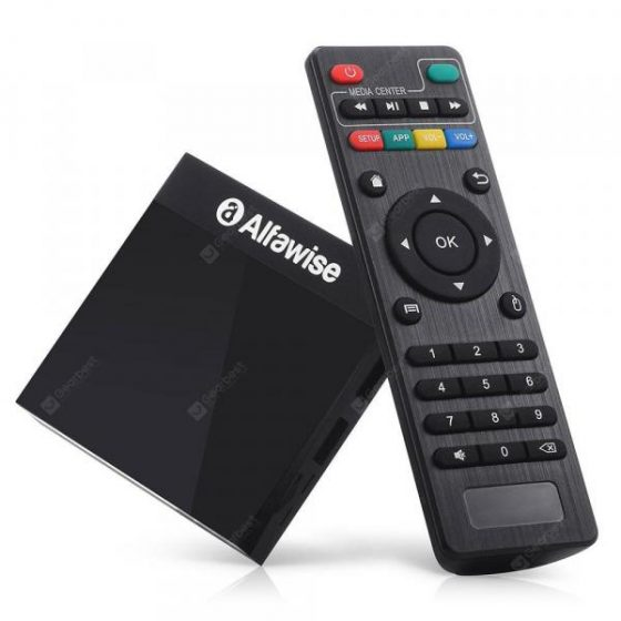 italiaunix-Alfawise A9 4K Amlogic S905 Android 8.1 Smart Internet TV Box Mediabox  Gearbest