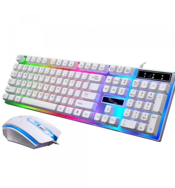 italiaunix-G21 Wired Usb Light Mouse and Keyboard Set with Rgb Led Backlight