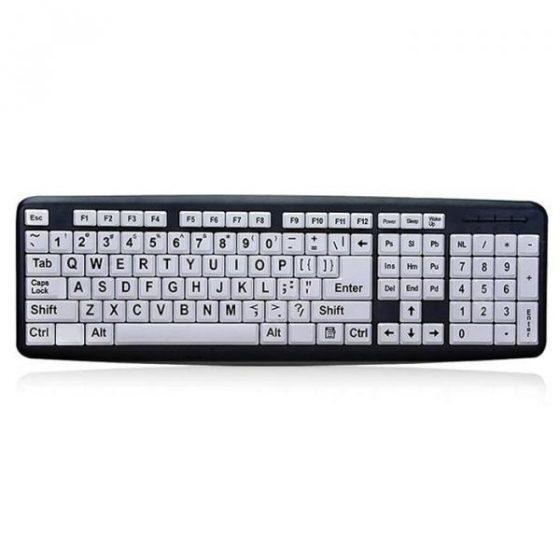 italiaunix-Large Print Computer USB Wired Keyboard