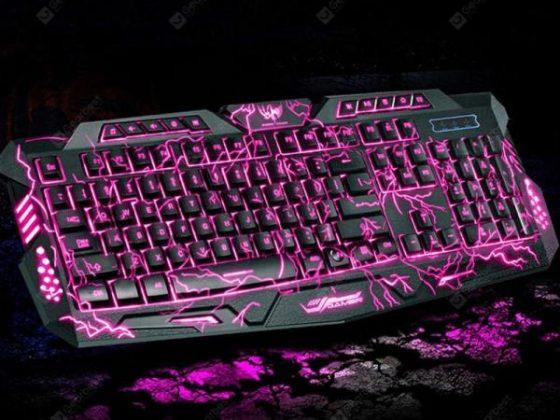italiaunix-M200 USB Game Backlit Gaming Burst Crack Mechanical Feel Keyboard  Gearbest