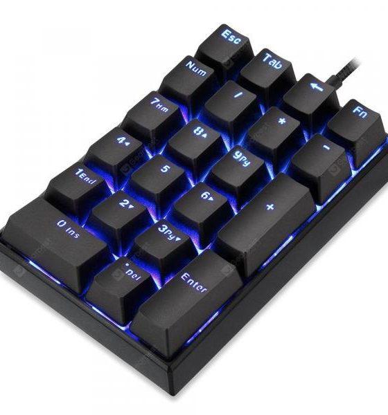 italiaunix-Motospeed K23 Numeric Mechanical Keyboard Kailh Box Switch Black  Gearbest