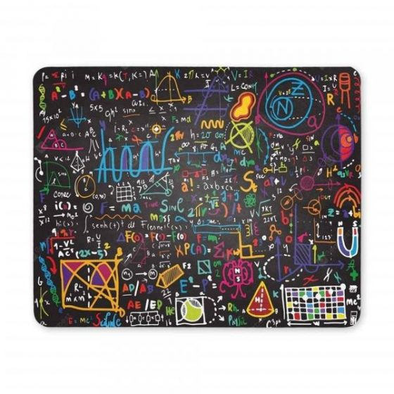 italiaunix-Non-Slip Rectangle Colorful Words Mouse Pad for Home Office and Gaming Desk
