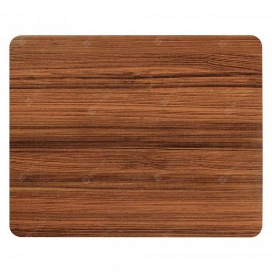 italiaunix-Non Slip Rubber Brown Wood Pattern Gaming Soft Mouse Pad