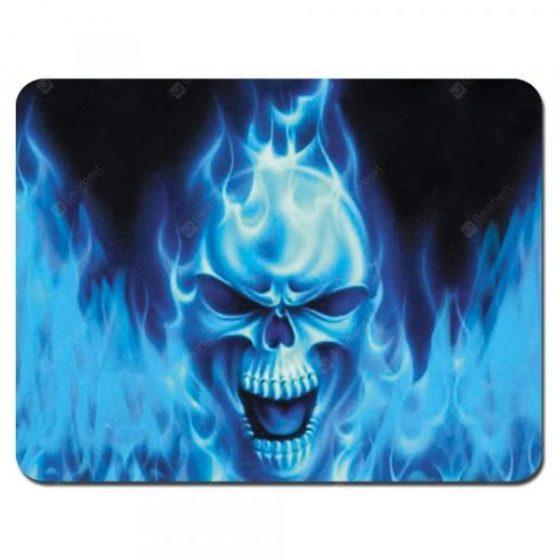 italiaunix-Non Slip Rubber Gaming Blue Skeleton Mousepad