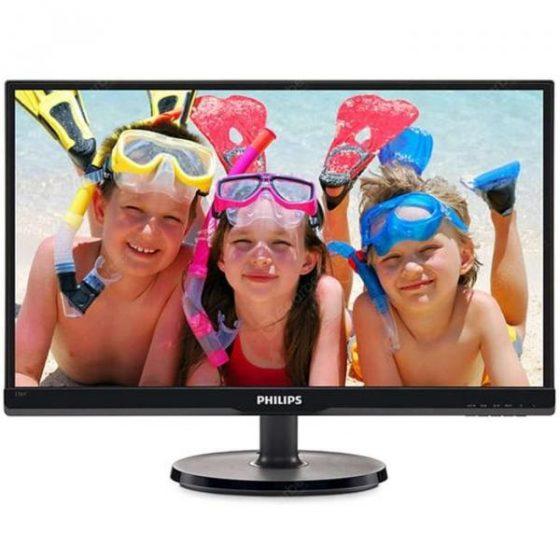 italiaunix-PHILIPS 236V6QSB 23 inch LCD Monitor IPS Wide Viewing Angle HD Eye Protection No Flash Computer Display Wall Mountable
