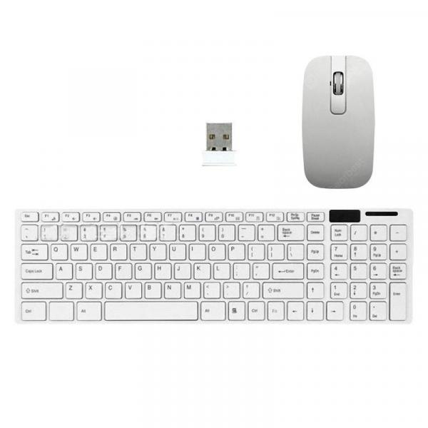 italiaunix-Ultra Slim Wireless Keyboard and Mouse Combo 2.4GHZ Whisper Quiet for Windows PC  Gearbest