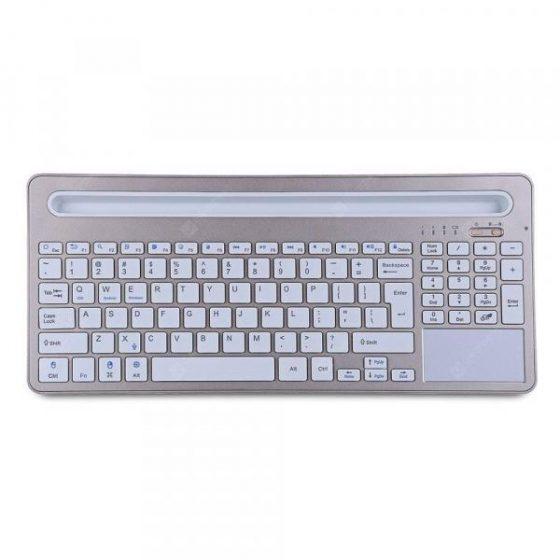 italiaunix-iPazzPort 85BT Wireless Keyboard Ultra-slim Design 96 Keys