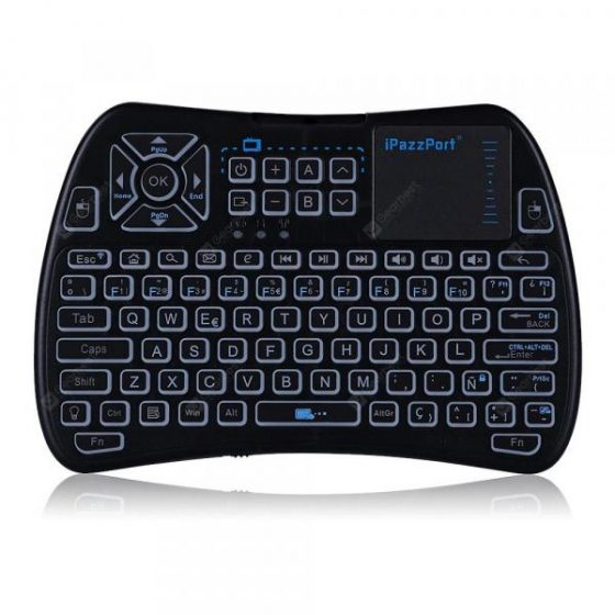 italiaunix-iPazzPort KP - 810 - 61 Wireless Mini Keyboard Backlight Function with Touchpad  Gearbest
