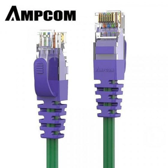 italiaunix-AMPCOM CAT6 Ethernet Cable Solid Copper Network Cable Purple RJ45 Cat6 Lan Cable  Gearbest