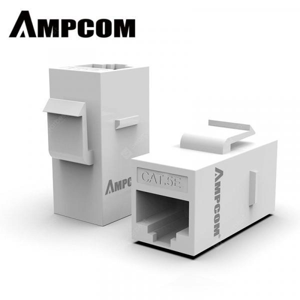 italiaunix-AMPCOM RJ45 Coupler UTP extender LAN connector Adapter for Cat6 Cat5e Ethernet Cable 8P8C White  Gearbest