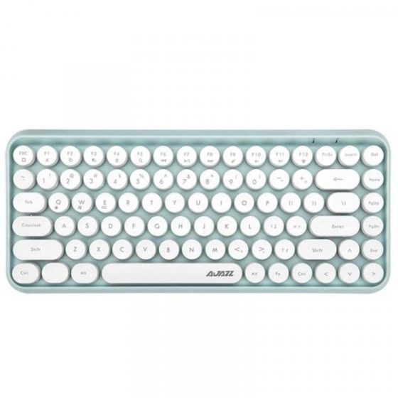 italiaunix-Ajazz 308i Vintage Portable Bluetooth Wireless Keyboard 84 Keys  Gearbest