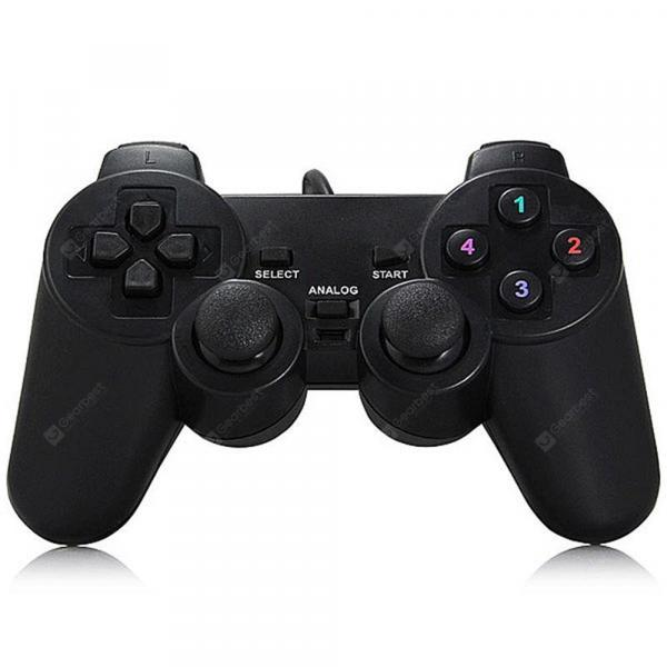 italiaunix-Computer Gamepad Usb Pc Doubles Double Play Game Handle With Vibration Handle  Gearbest