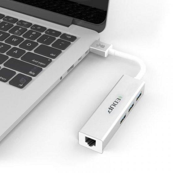 italiaunix-EDUP EP - 9606 Gigabit LAN Adapter USB 3.0 Hub  Gearbest