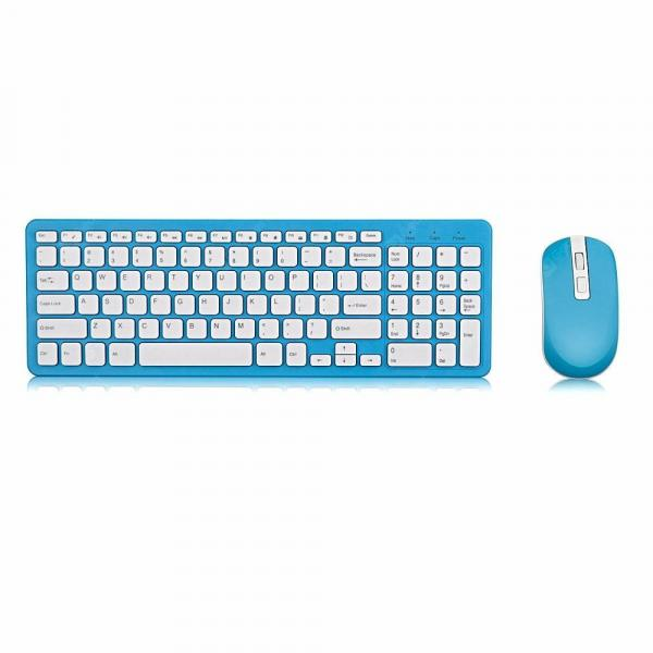 italiaunix-GKM520 Wireless Keyboard and Mouse Set  Gearbest