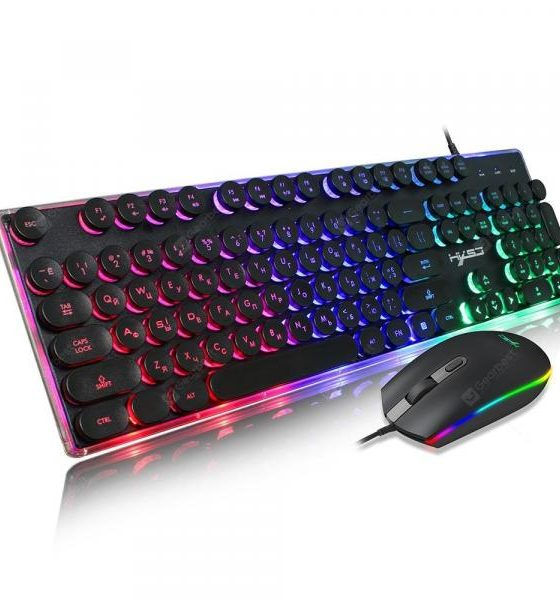 italiaunix-HXSJ V300 Retro Game Membrane Keyboard Mouse Set  Gearbest