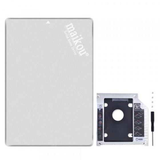 italiaunix-MAIKOU 2.5 SATA3 6.0Gb/S SSD for Notebook PC Hard Drive Bracket 9.5mm Set  Gearbest