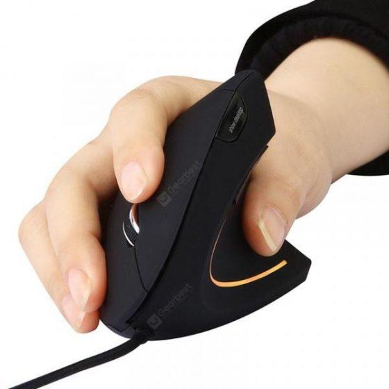 italiaunix-MODAO E1803 Ergonomic Vertical USB Wired Mouse  Gearbest