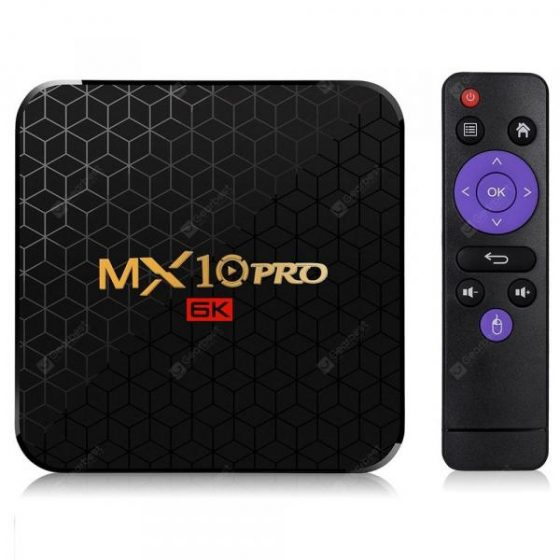 italiaunix-MX10 Pro 6K TV Box Android 9.0  Gearbest