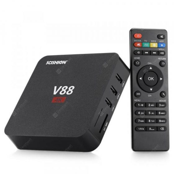 italiaunix-SCISHION V88 TV Box Rockchip 3229 Quad Core  Gearbest