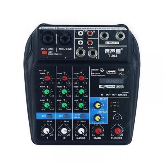 italiaunix-TU04 Bluetooth USB and Sound Card Mixer for Recording Voice-Activated Radio  Gearbest