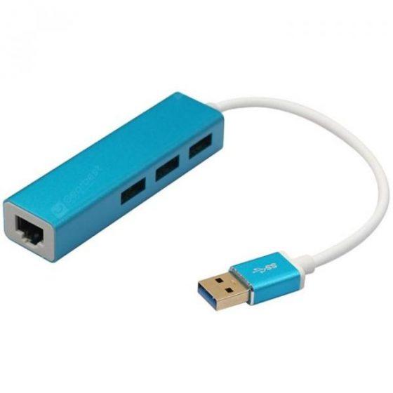 italiaunix-USB3.0 HUB + RJ45 Gigabit LAN with 3 Ports HUB  Gearbest