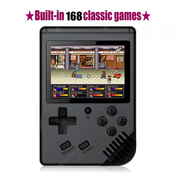 italiaunix-168 Games Retro Handheld Game Console Support TV 2 Player Classic Game Console  Gearbest