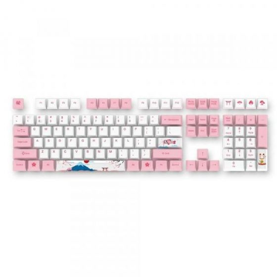 italiaunix-AKKO 114 Keys Profile Dyesub PBT Keycap Set for World Tour - Tokyo Mechanical Keyboard  Gearbest