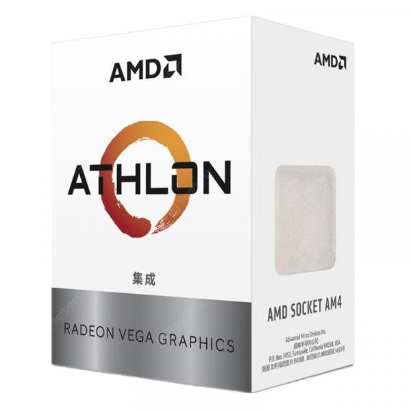italiaunix-AMD Athlon 200GE CPU with Radeon Vega 3 Graphic 2 Core 4 Thread AM4 Interface 3.2GHz  Gearbest