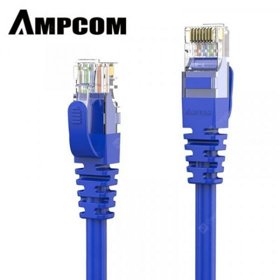 italiaunix-AMPCOM CAT5e Ethernet Cable High Speed UTP Network Cable Gold Plated Snagless Patch Cord  Gearbest