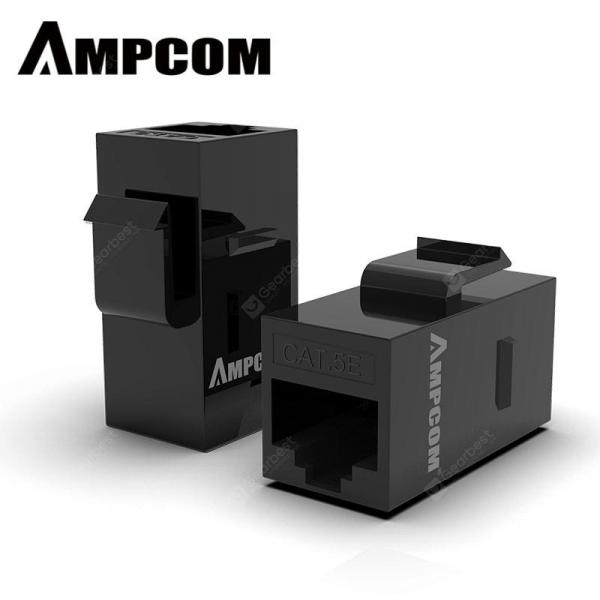 italiaunix-AMPCOM RJ45 Coupler UTP Straight-Through Keystone Module Adapter for Extender Lan Connector  Gearbest