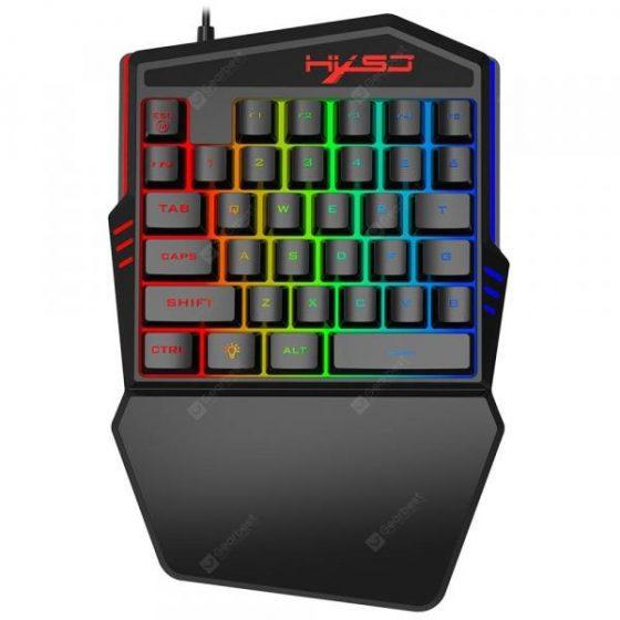 italiaunix-HXSJ V100 - 2 One Hand Game Membrane Keyboard 35 Key  Gearbest
