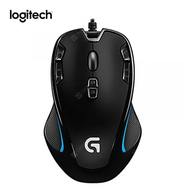 italiaunix-Logitech G300S Wired Gaming Mouse Designed for MMO Mouse 2500DPI 9 Rechargeable Programmable Buttons  Gearbest