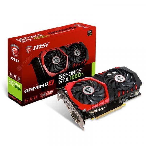 italiaunix-MSI NVIDIA GeForce GTX 1050 Ti GAMING X 4G Graphics Card 1290 - 1493MHz 128 Bit GDDR5 PCI-E 3.0  Gearbest