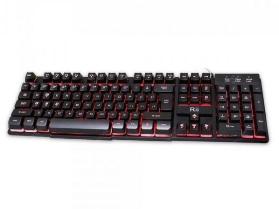 italiaunix-Rii RK100 Mechanical Feeling Gaming Keyboard UK Layout  Gearbest