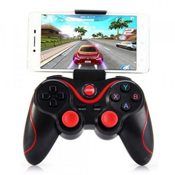 italiaunix-T3 joystick Bluetooth wireless S600 STB S3VR joystick for Android IOS mobile PC game controller  Gearbest