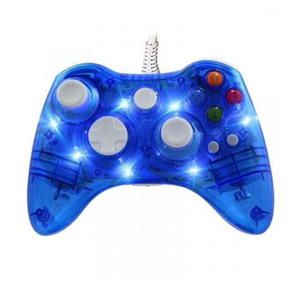 italiaunix-Transparent Clear Game Controller Gamepad Joystick for XBOX360 For PC  Gearbest
