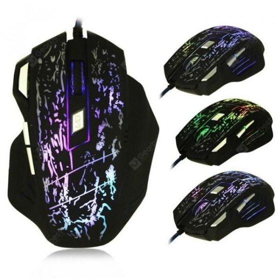 italiaunix-bEITRS X3 Wired Gaming Mouse with Breathing Lamp  Gearbest