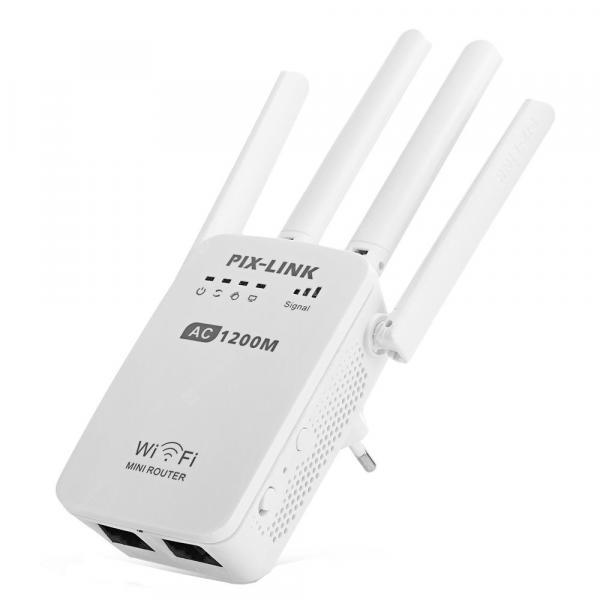 italiaunix-1200M European Standard Four Antenna Wireless Repeater  Gearbest
