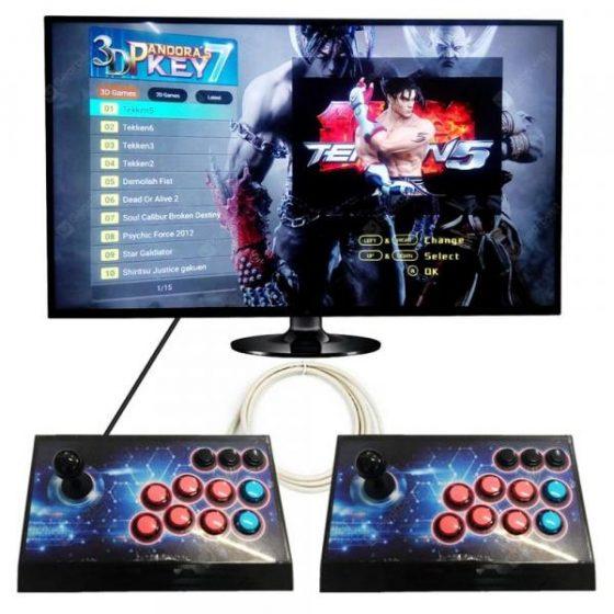 italiaunix-2 Player Box 3D Arcade Game Machine Built In 2177 Games  Gearbest