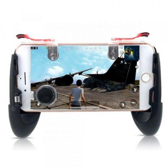 italiaunix-4 in 1 Mobile Phone Game Controller Trigger Fire Button Joystick Gamepad  Gearbest