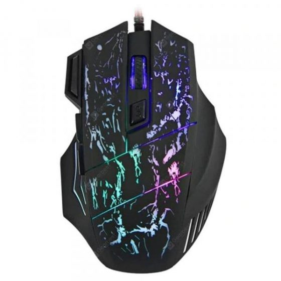 italiaunix-7 Buttons LED USB Wired  Gaming  Mouse  Gearbest