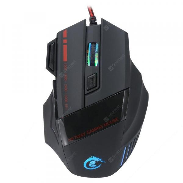 italiaunix-A907 Wired Optical Self-defining Gaming Mouse  Gearbest