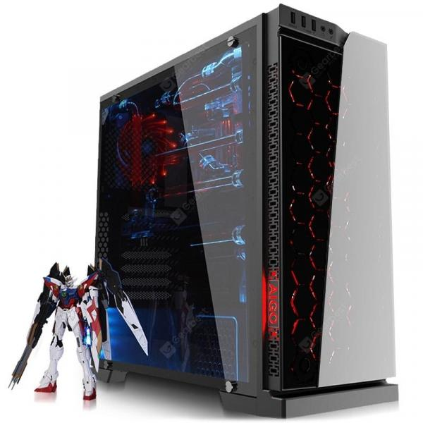 italiaunix-Aigo Dazzling black Cool RGB Computer Case  Gearbest