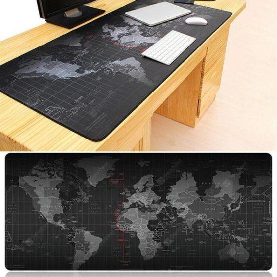 italiaunix-Anti-skid Rubber World Map Mouse Pad Oversized Non-slip Desktop Keyboard Mat  Gearbest