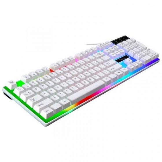italiaunix-BALDR G21 LED Rainbow Backlight USB Wired Gaming Keyboard and Mouse Combo  Gearbest