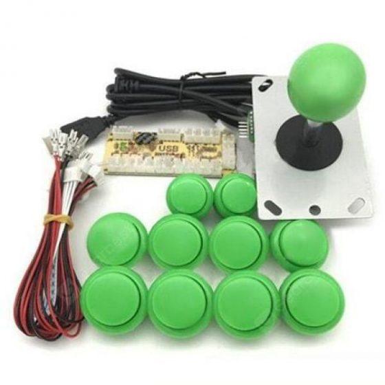 italiaunix-DIY Handle Arcade Set Kits Replacement Part Joystick Push Buttons  Gearbest