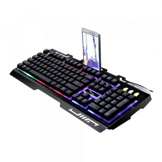 italiaunix-G700 Wire Machine Hand Feel Metal Luminescence Game Computer Keyboard  Gearbest