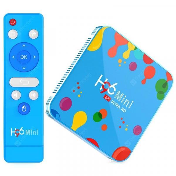 italiaunix-H96mini H6 Smart TV Box - Allwinner H6 / Android 9.0 / 2.4G + 5G WiFi / 100Mbps / USB3.0 / BT4.0 / Support 6K@30fps  Gearbest