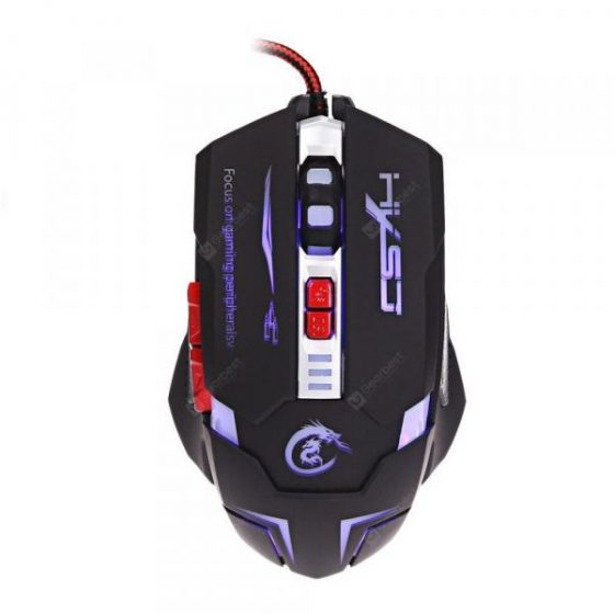 italiaunix-HXSJ H600 Wired LED Game Mouse with Seven Buttons  Gearbest