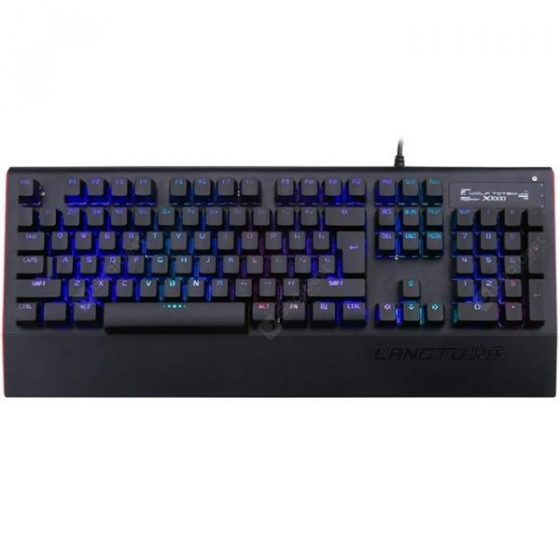italiaunix-LANGTU K1000RGB Waterproof Wired USB Keyboard 104 Key  Gearbest